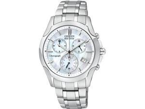 Citizen FB1158-55D Eco-Drive Stainless Steel Case and Bracelet Mother of Pearl Dial Chronograph Date Display