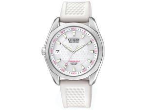 Citizen EO1070-05A Titanium Golf Eco-Drive Sapphire Silver Dial Polyurethane Watch