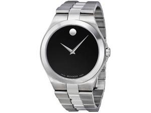Movado 0606555 Stainless Steel Case and Bracelet Black Dial Signature Movado Dot