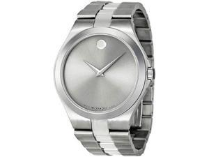 Movado 0606556 Stainless Steel Case and Bracelet Silver Dial Signature Movado Dot