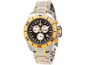 Invicta 11285 Pro Diver Two Tone Stainless Steel Case and Bracelet Carbon Fiber Dial Gold Bezel