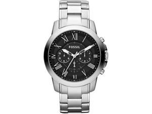 Fossil FS4736 Stainless Steel Case and Bracelet Black Dial Chronograph Roman Numerals