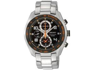 Seiko SNDD37 Stainless Steel Case and Bracelet Chronograph Quartz Black Dial Date Display