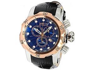 Invicta 10808 Men's Reserve Venom Mid-Size Rose Gold Tone Bezel Blue Textured Di