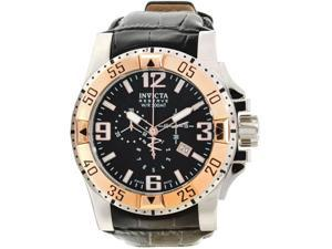 Invicta 10899 Men's Reserve Excursion Black Textured Dial Rose Gold Tone Bezel C