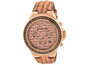 Michael Kors Gramercy Rose Python Glitz Chronograph Ladies Watch MK2305
