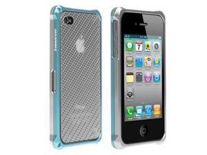 HornetTek BLAZR Silver / Blue Dual Shell Aluminum Case for iPhone 4 / 4S - IP4AL02-SB