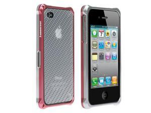 HornetTek BLAZR Silver / Pink Dual Shell Aluminum Casing for iPhone 4 / 4S - IP4AL02-SP