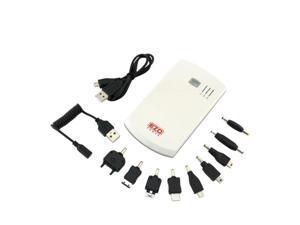 EZOPower White 2-Port High-capacity Portable External Rechargable Backup Battey Pack -5600mAh (2A)