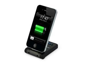 EZOPower Foldable Backup Battery Sync Charging Dock - Black 2000mAh / EZMFI21 for Apple iPhone, iPod