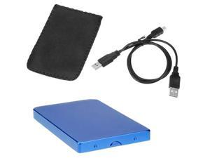 GTMax 2.5-inch USB 2.0 SATA 500GB HDD Hard Disk Drive Screwless Case Enclosure -Blue