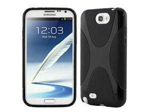 GTMax X-Shape TPU Case for Samsung Galaxy Note 2 II N7100 - Matte Black