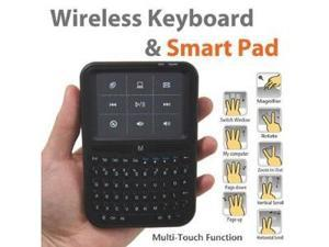 iKross Palm-Sized Mini 2.4GHz RF Wireless Media Keyboard with Multi-Touch Gesture Touchpad Mouse/Remote Control for Windows ...