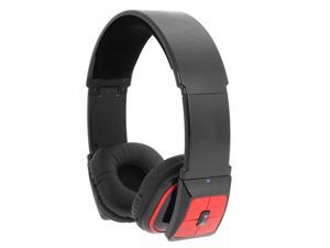 iKross IKBLU071 Stereo Bluetooth Over-The-Head Handsfree Headset with Microphone (Black/Red)