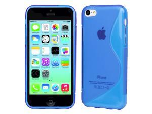 Evecase S-Line Slim TPU Case for 2013 Apple iPhone 5C - Blue (AT&T, Verizon, Sprint, T-Mobile and International Version Compatible)