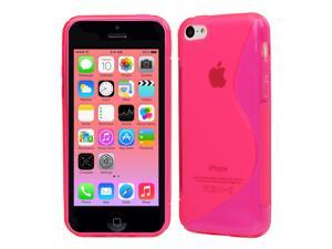 Evecase S-Line Slim TPU Case for 2013 Apple iPhone 5C - Hot Pink (AT&T, Verizon, Sprint, T-Mobile and International Version ...