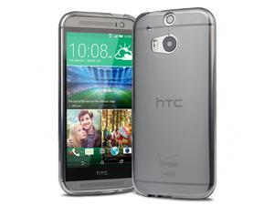 Evecase Slim TPU Case Cover for 2014 New HTC One (M8) (Verizon, AT&T, Sprint, T-Mobile Versions Compatible) - Gray