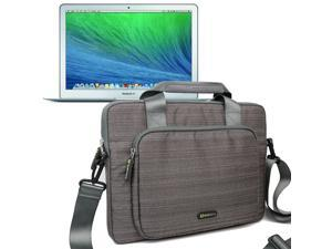 Evecase Suit Fabric Multi-functional Neoprene Briefcase Case Tote Bag for Apple MacBook Air 13-inch (2014) MD761LL/B / MD760LL /B 13.3-Inch Laptop (NEWEST VERSION)