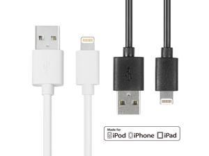 EZOPower 6 Feet Apple MFI 8 Pin Lightning USB Charging Sync data Cable - Pack Of 2 for iPhone 5s 5 5C, iPod Touch 5, iPod ...