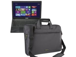Evecase Polyester/ Nylon 15 inch - 15.6 inch Universal Travel Carry Bag for ASUS 15.6-Inch HD Dual Core (X551MAV-EB01-B) Laptop with Handles and Adjustable Shoulder Strap - Black