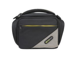 Evecase Black/Grey Medium SLR Camera Travel Case/Bag with Strap for Canon Nikon Sony Panasonic Fuji Olympus and more DSLR ...