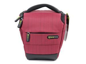 Evecase DSLR Camera Holster Case/Bag - Red for Canon Nikon Sony Panasonic FujiFilm Olympus DSLR Cameras