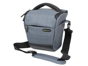 Evecase DSLR Camera Holster Case/Bag - Gray for Canon EOS 7D Mark II, 70D SL1 T5i T3i T2i, Nikon D3200 D5200 D5300 D90, Sony ...