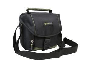 EveCase Black Digital / SLR Camera Pouch Case for FujiFilm FinePix X10, X100, S2950, Nikon L820, Canon EOS Rebel SL1, Canon ...