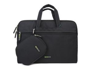Evecase Sleeve Bag Carrying Case Universal Briefcase for Acer 13 CB5-311-T9B0 Chromebook (13.3-inch Full HD, NVIDIA Tegra K1, 2GB)with Handle + Pouch Case and Mouse Pad – Black