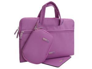 """Evecase [2015 Newest Model] Dell XPS13 Ultrabook Computer 13.3""""- Dual Layer Protection Tablet / Laptop Sleeve Bag Carrying Case Briefcase with Handle + Pouch Case and Mouse Pad – Purple"""