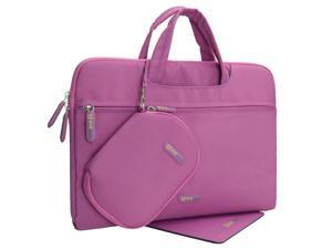 Evecase Toshiba CB35-B3340 13.3-Inch Chromebook 2 Dual Layer Sleeve Tablet/Laptop Briefcase Bag with Carrying Handle + Pouch Case + Mouse Pad – Purple