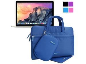 Evecase 2015 The new Apple Macbook 12inch Laptop/Notebook Sleeve Carrying Case with Handle + Acessories Bag + Mouse Pad - Blue