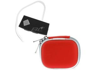 Red Bluetooth Case and Mini Black Stereo Headset H909 NEW