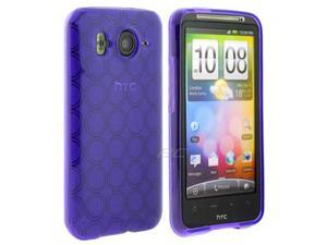 GTMax Flexible Gel Skin Protector Cover Case - Purple Circle for HTC Desire HD /Inspire 4G