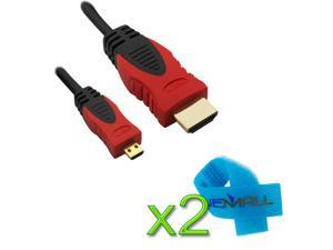 BIRUGEAR 15FT  Micro-HDMI to HDMI Cable (Red/Black) for Amazon Kindle Fire HD 7'' ,  Kindle Fire HD 8.9'' / Kindle Fire HD ...