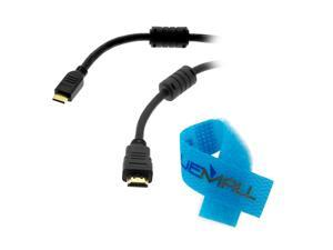 GTMax Mini HDMI (Type C) to HDMI 1.4 Cable Cord Lead for Olympus E SYSTEM : E-PM1, E-PL3, E-PL2, E-PL1, E-5, E-P3, E-P2, ...