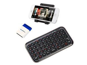 iKross Portable Folding Stand Holder + Bluetooth Wireless Mini Keyboard + Screen Brush for Apple iPhone 5, 4S&#59; HTC Desire ...