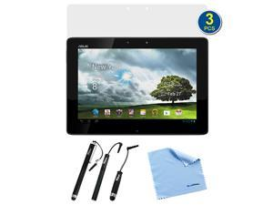 BIRUGEAR 3-Pack Premium HD Guard Film Clear LCD Screen Protectors plus 3pcs Black Stylus for ASUS Transformer Pad TF300 10.1-Inch ...