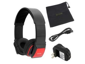 iKross Bluetooth Stereo Headphone Headset with Black Microfiber Carrying Case + USB Travel Charger for Apple iPhone 5&#59; HTC ...