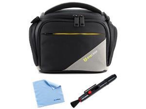 Evecase® Black Large Digital Camera Nylon Case + Lens Pen for Canon EOS 70D, EOS 700D, EOS 100D,  PowerShot SX50 HS, PowerShot ...