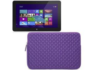 Evecase Purple Diamond Foam Shockproof Sleeve Case Bag for Dell Venue 11 Pro / Dell Inspiron 11 3000 Series Laptop / Tablet