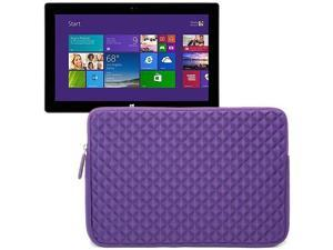 Evecase Purple Diamond Foam Shockproof Sleeve Case Bag for Microsoft Surface RT / Pro / Surface 2 / Pro 2 10.6 inch Tablet