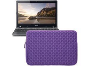 Evecase Purple Diamond Foam Shockproof Sleeve Case Bag for Acer C7 C710, Acer Aspire V5, Aspire P3, Aspire One, Aspire S7 ...