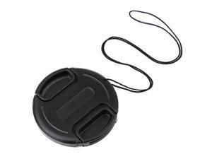 GTMax Black Camera Plastic Snap On Lens Cap with Strap - 52mm for Canon EOS 60D /for Nikon 18-55mm 55-200m 50mm f/1.2 50mm ...
