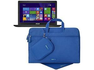 Evecase ASUS 15.6-Inch Intel Dual-Core X551MAV-EB01 Laptop/Notebook Sleeve Carrying Case with Handle + Acessories Bag + Mouse Pad - Blue