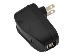 GTMax 2 Port USB Home Wall Travel AC Charger Power Adapter - Black (2300mA)