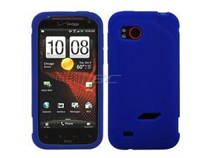 GTMax Blue Silicone Skin Rubber Soft Case for HTC Verizon Rezound /Vigor 6425