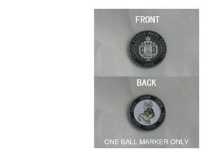Navy Golf Double Sided Ball Marker Single Marker