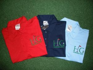 "Woman's Adidas ""Hoboken Golf"" Embroidred Polo  Red LG"