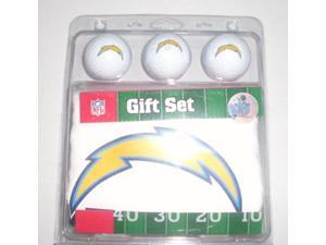 Official NFL 3 Golf Ball Gift Set San Diego Chargers